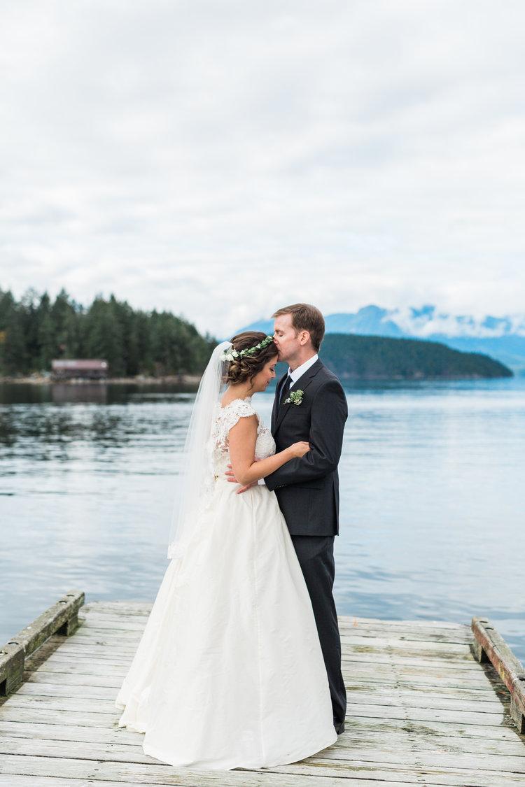 Newlyweds by Ocean Marnie & Drew Eco Friendly Inspired Wedding by Jennifer Picard Photography