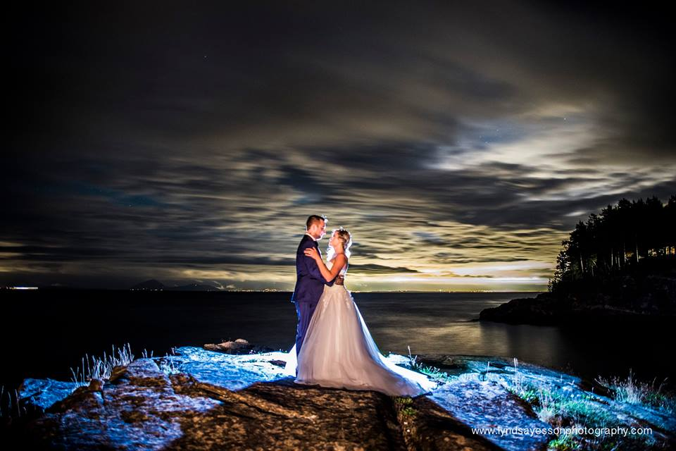 Gorgeous Water Shot of Newlyweds Ocean View West Coast Weddings Magazine