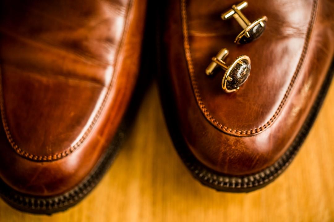 Grooms Shoes and CufflinksSuns Golden Kiss West Coast Weddings Magazine