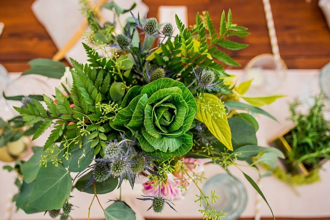 Reception Greenery on TablesSuns Golden Kiss West Coast Weddings Magazine