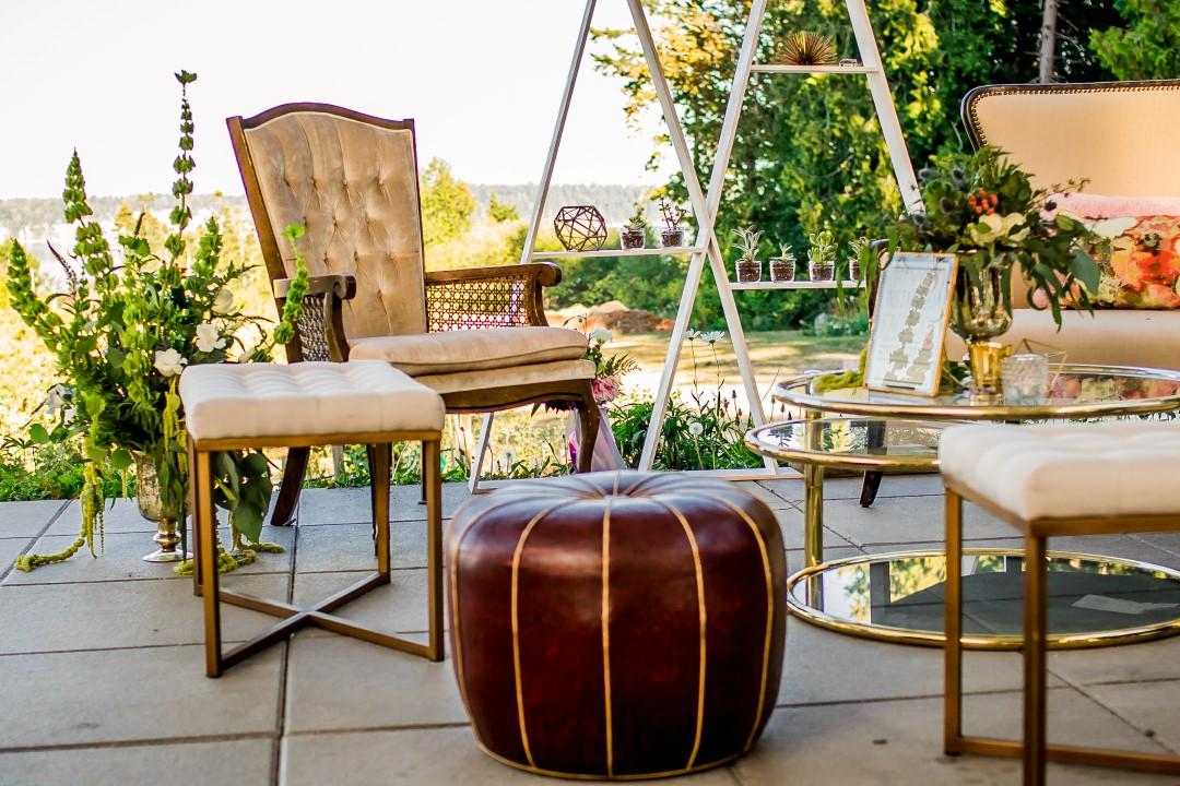 Furniture Setting OutdooSuns Golden Kiss West Coast Weddings Magaziner