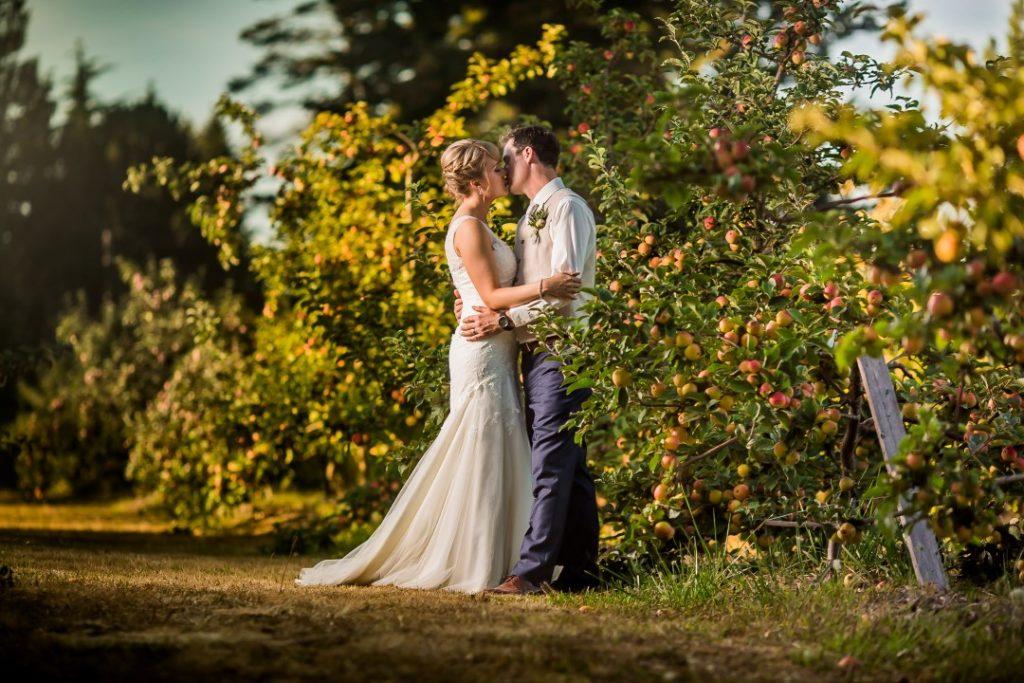 Newlyweds Suns Golden Kiss West Coast Weddings Magazine
