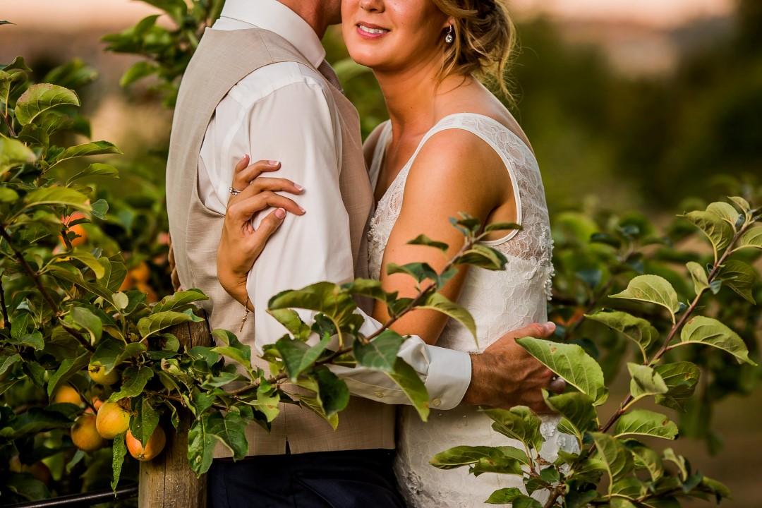 Vineyard Hug for NewlywedsSuns Golden Kiss West Coast Weddings Magazine