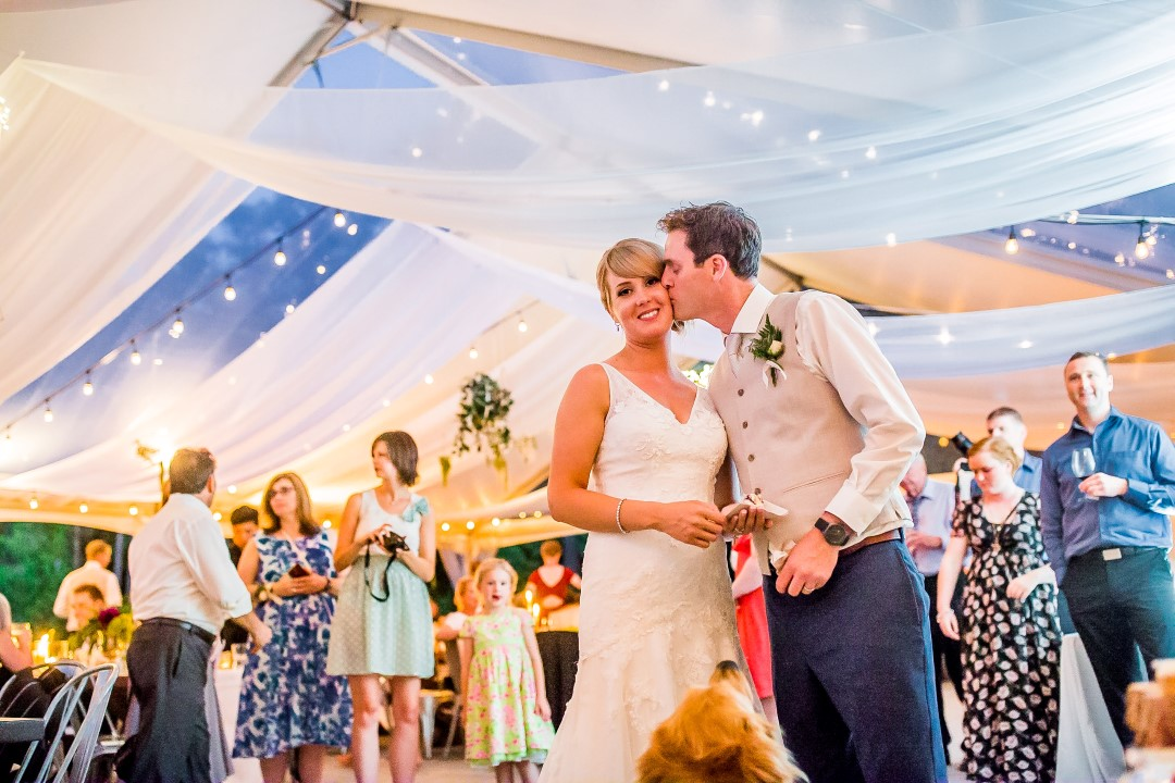 Tent Filled with Guests Suns Golden Kiss West Coast Weddings Magazine
