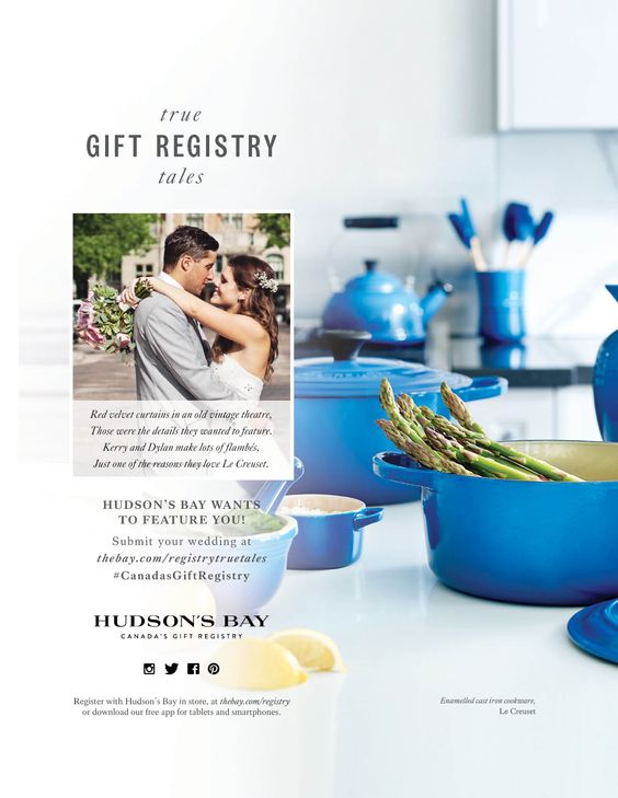 Wedding Gift List Companies : ... gift registry hudson s bay the hudson s bay gift registry and wedding