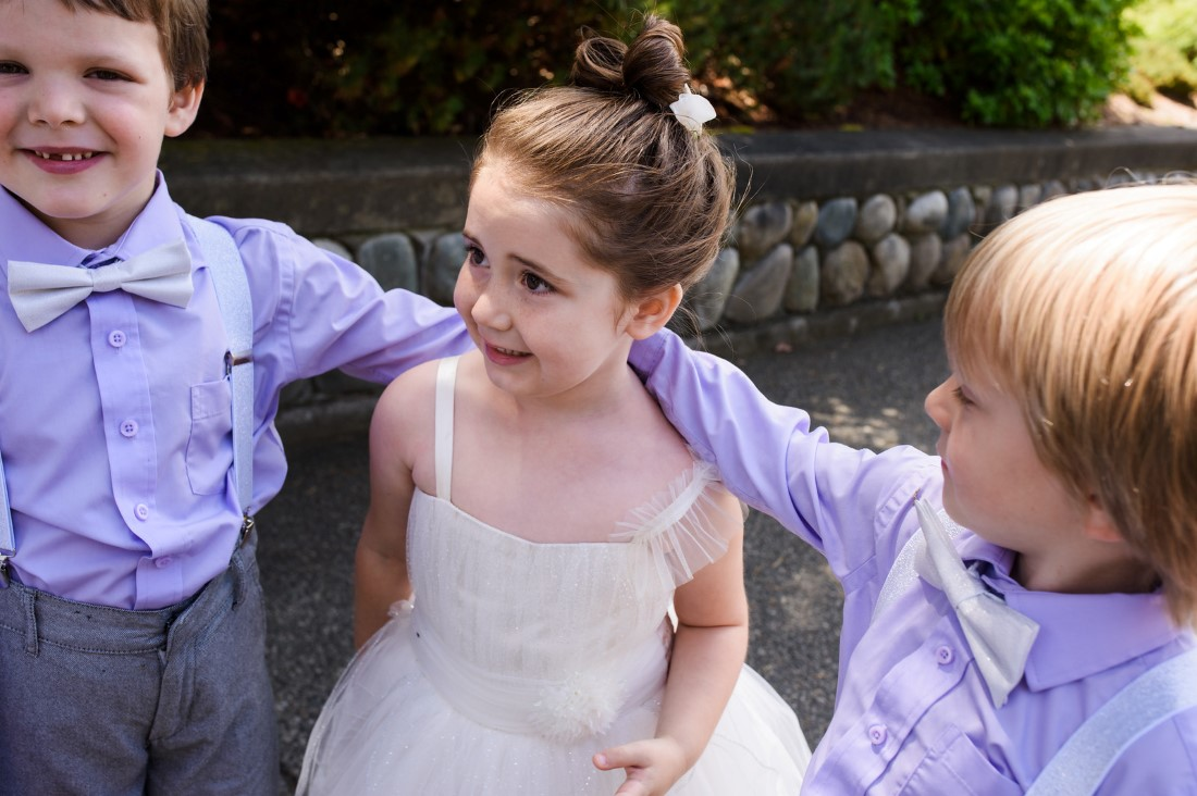 Flower Girl Page Boys Ringbearers Crown Isle Love Story on Vancouver Island