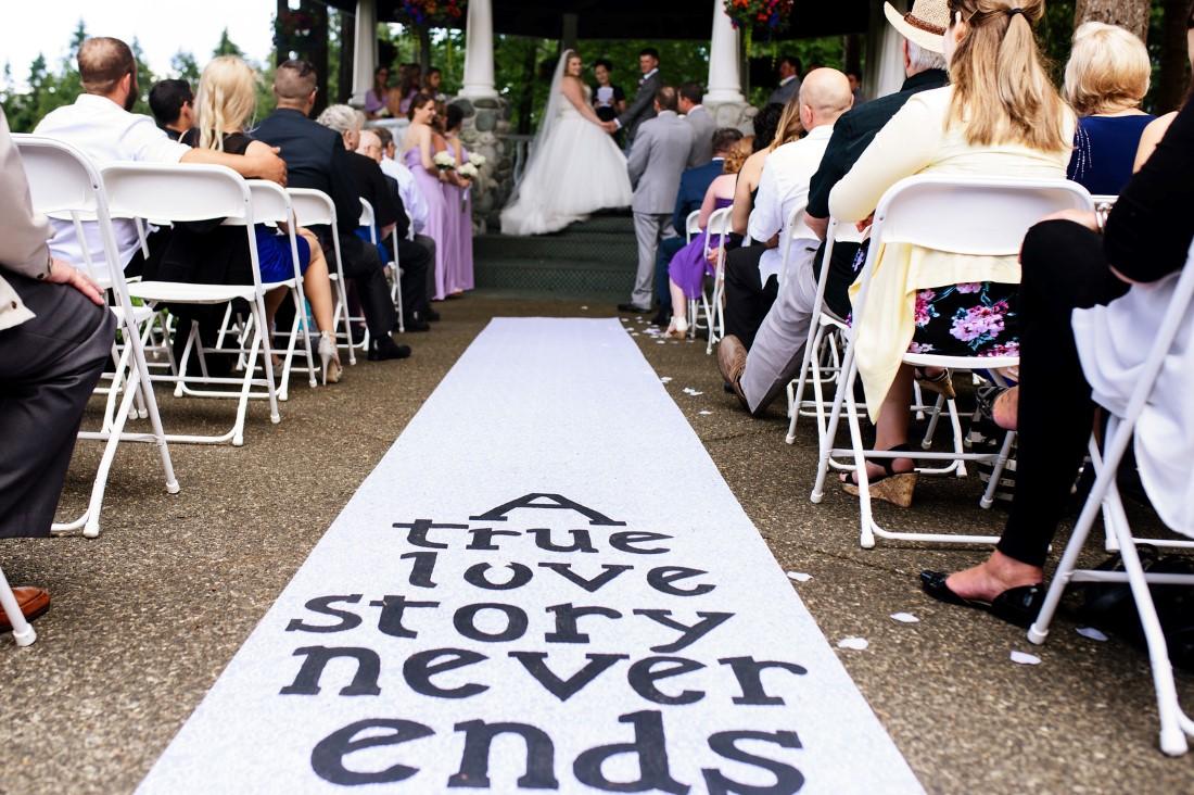 Ceremony Aisle Runner Comox Valley Wedding story