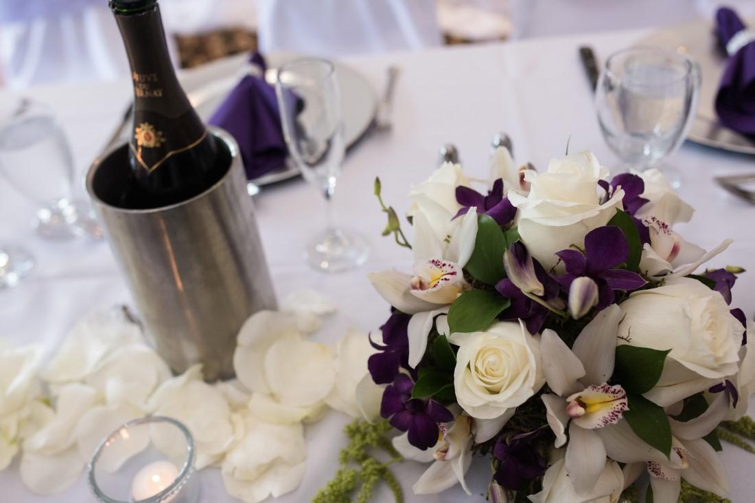 Decor at Wedding Story Crown Isle Vancouver Island