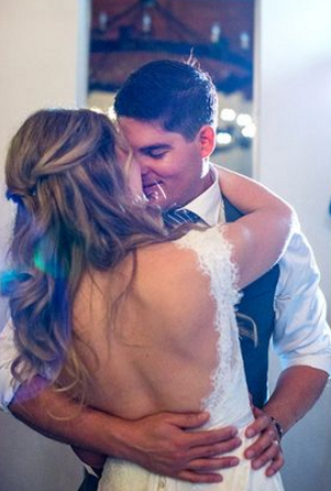 Couple Dancing their First Dance at Reception Vancouver Island Wedding Magazine