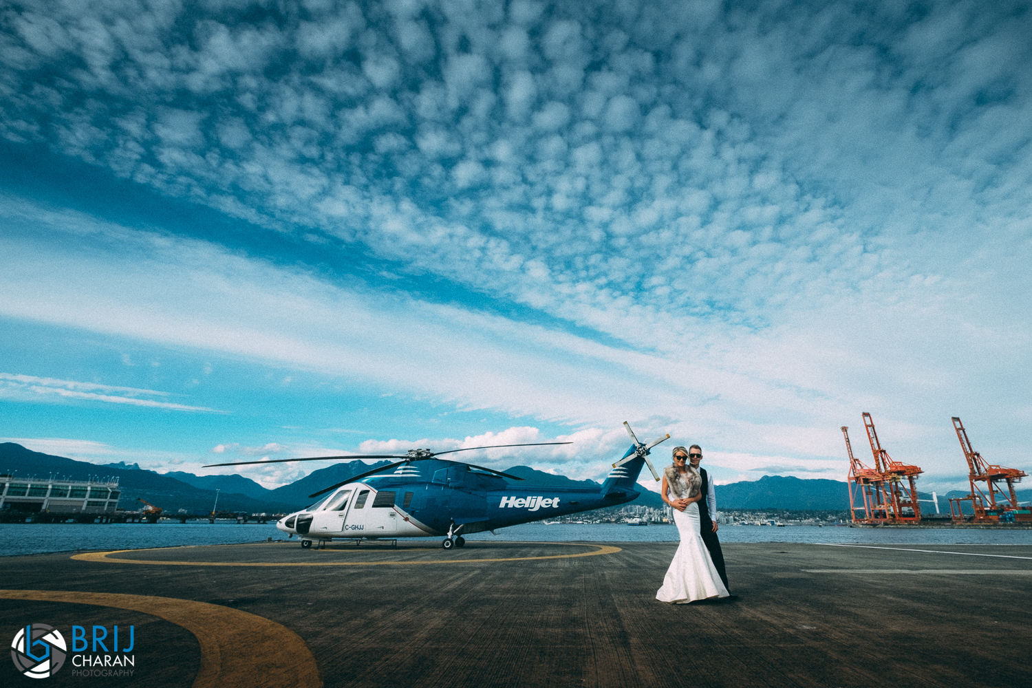 Helicopter at Styled Session on Vancouver Island and Vancouver