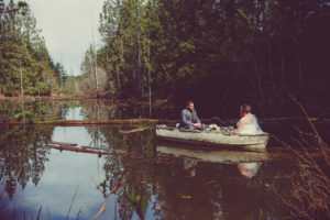 New Wedding Memories in a Canoe on Vancouver Island