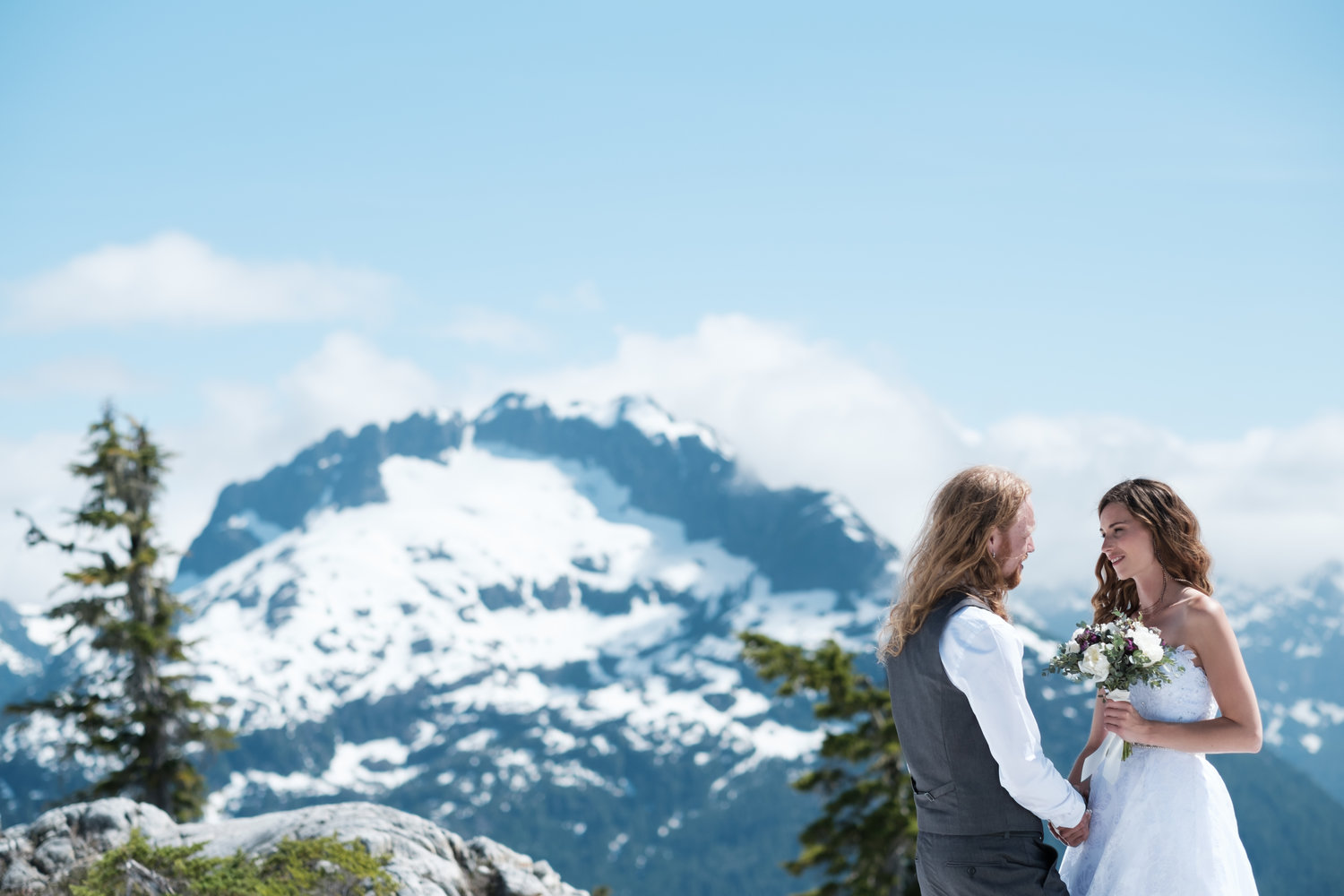 Mountain Top Elopement Vancouver Island West Coast Weddings BC Magazine
