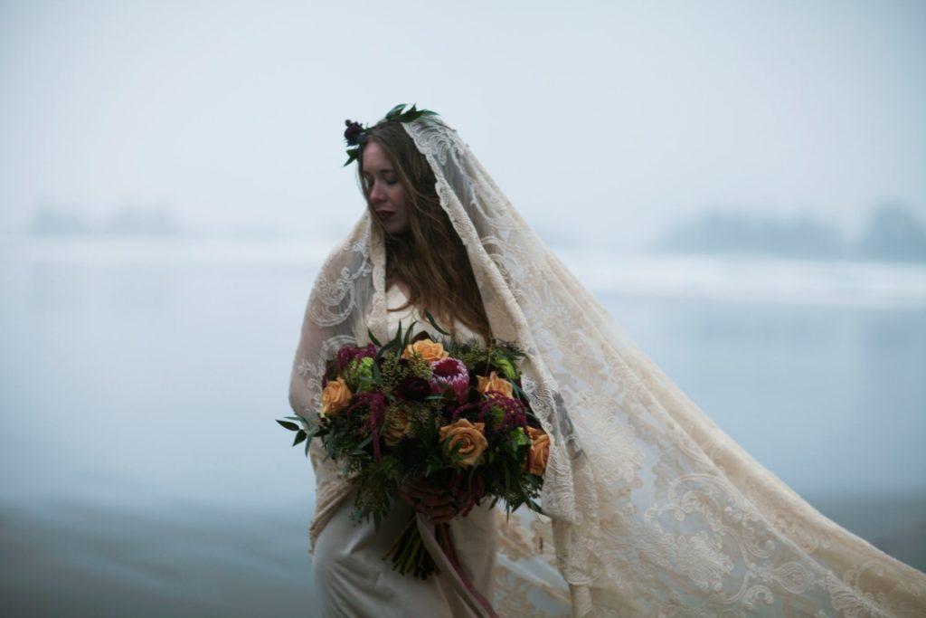Tofino Bridal Veil Vancouver Island Crabapple Floral West Coast Weddings