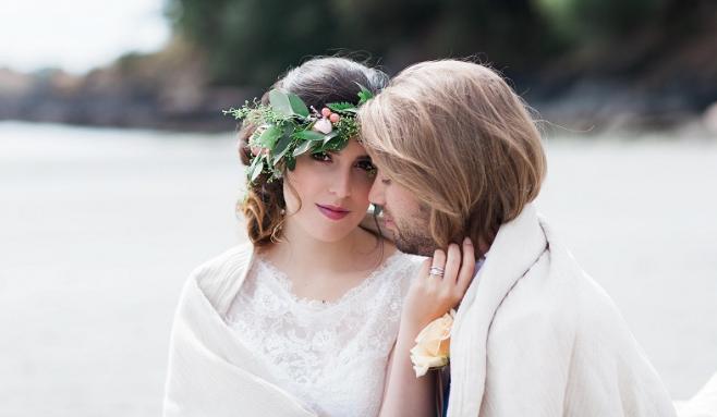 Floral Wreath West Coast Weddings Vancouver Island