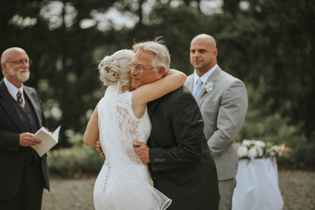 Giving Away the Bride Secret Waters Photography Garden Celebration Family Moments West Coast Weddings Magazine