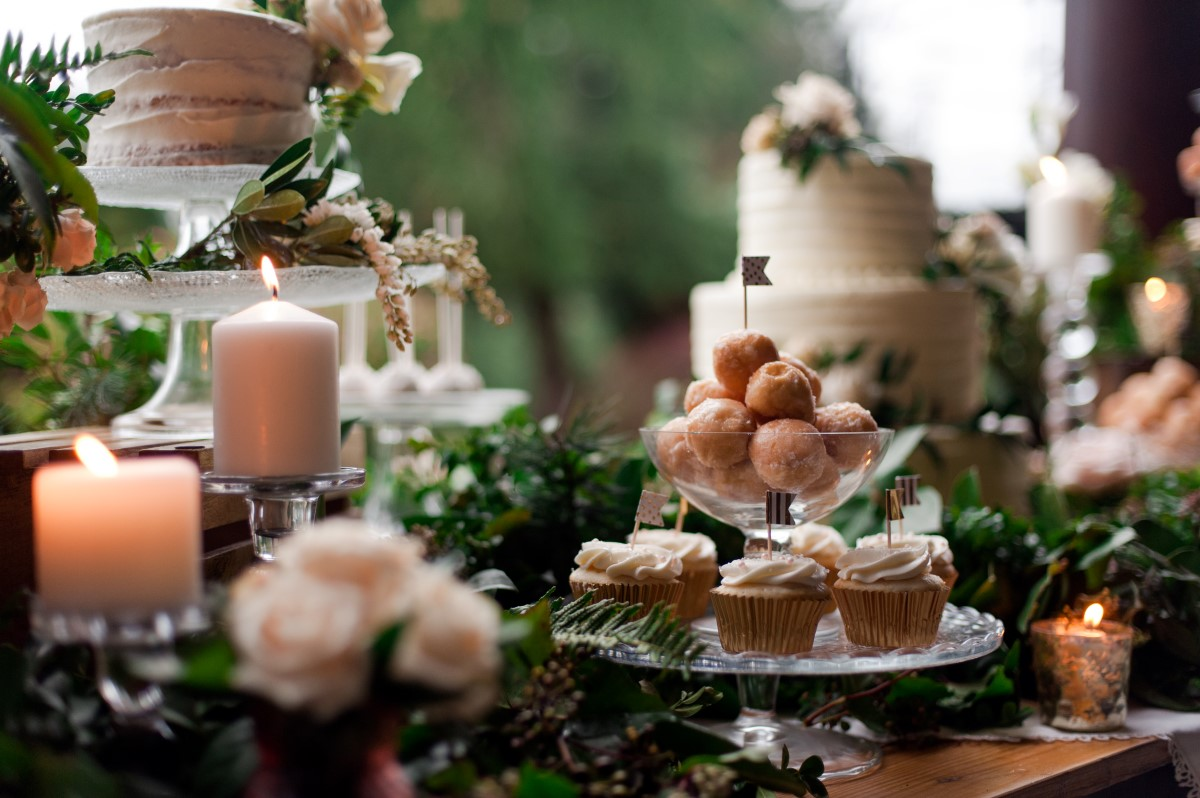 Gorgeous Greenery & Sweet Cakes Tim Hortons Wedding Dessert Table West Coast Weddings Magazine