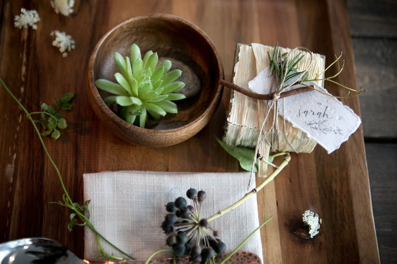 Eco Chic Wedding with Stylish Foraged Greenery Details West Coast Weddings Magazine
