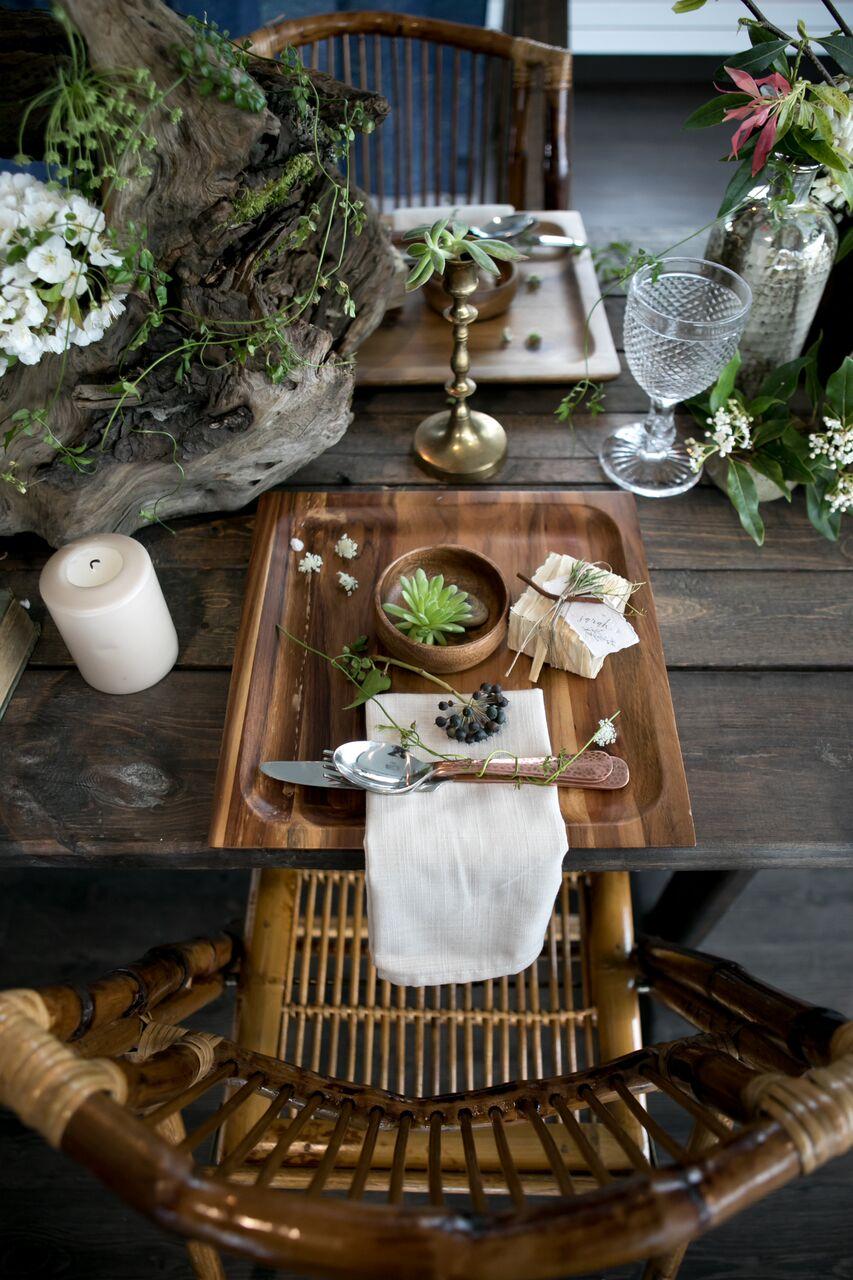 Bamboo decor Eco Chic Wedding with Stylish Foraged Greenery Details West Coast Weddings Magazine