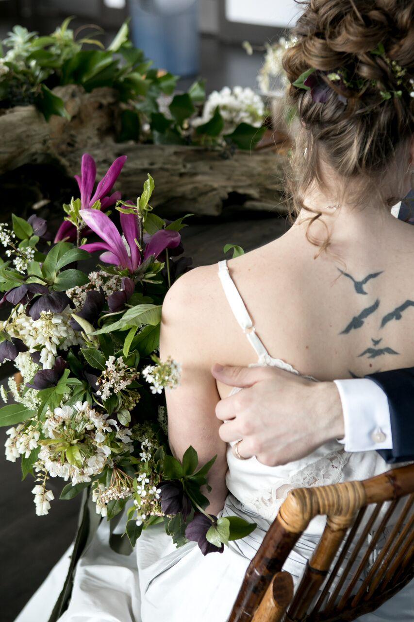 Hair Design Eco Chic Wedding with Stylish Foraged Greenery Details West Coast Weddings Magazine