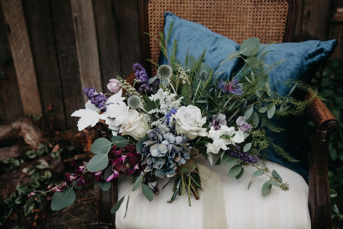 Gorgeous Bridal Bouquet Inked + Pretty Brides West Coast Weddings Magazine