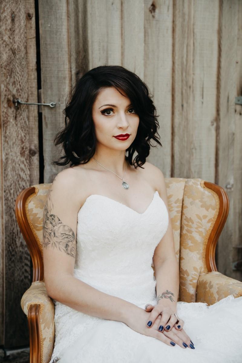 Brid Inked + Pretty Brides West Coast Weddings Magazine e with Arm Tattoo
