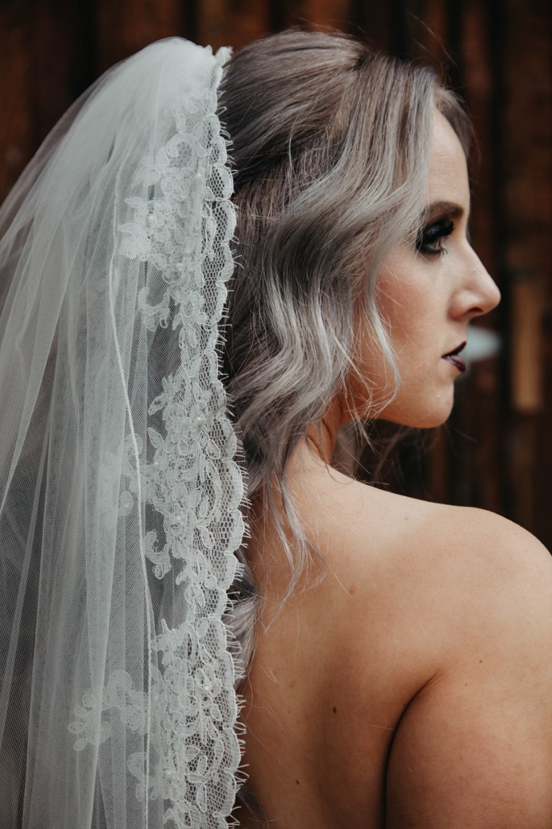 Lace Edged Veil Inked + Pretty Brides West Coast Weddings Magazine