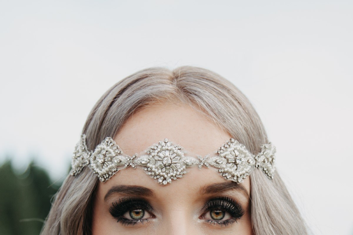 Jewelled HeadBand Bride Inked + Pretty Brides West Coast Weddings Magazine