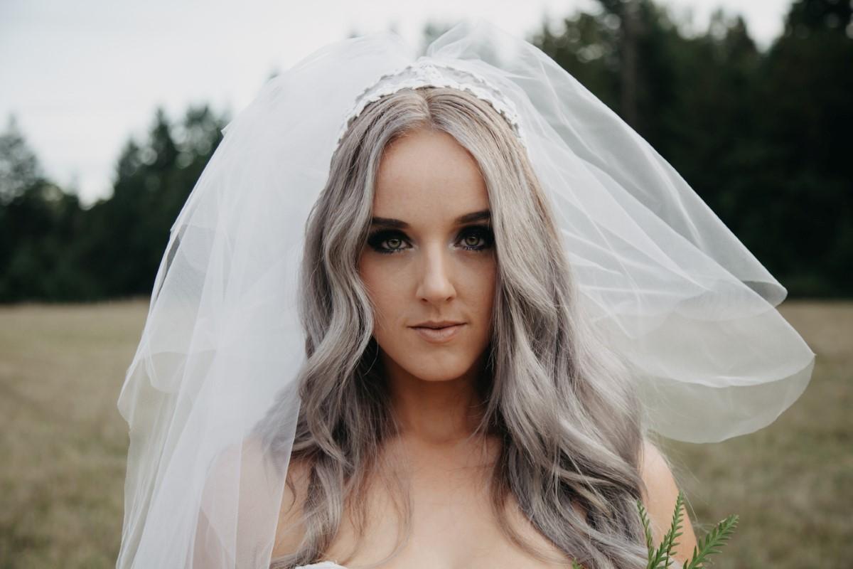 Bride in Veil Inked + Pretty Brides West Coast Weddings Magazine