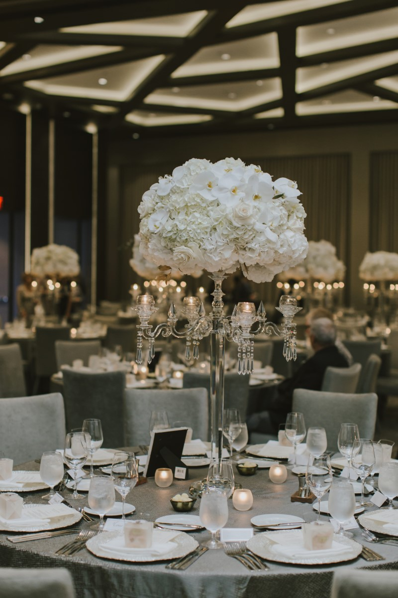 White Orchids Ballroom Trump Internatoinal Kayseeb abd Stevan Silk Sophistication Ophelia Photography Vancouver West Coast Weddings Magazine