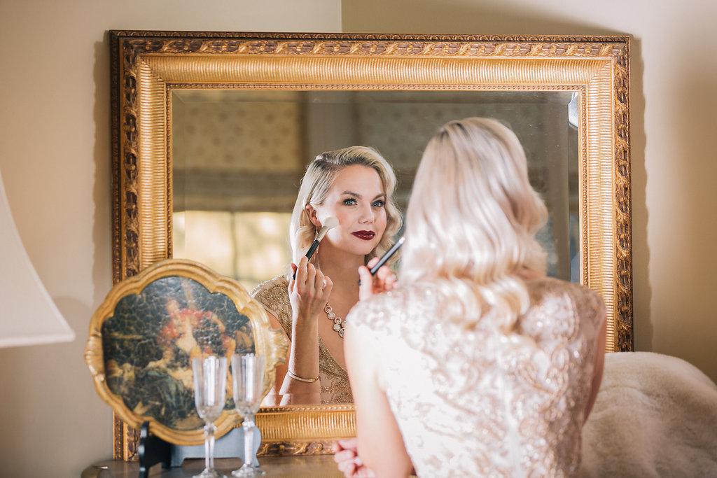 Bride in Mirror Styled Proposal Vancouver Island Wedding Magazine