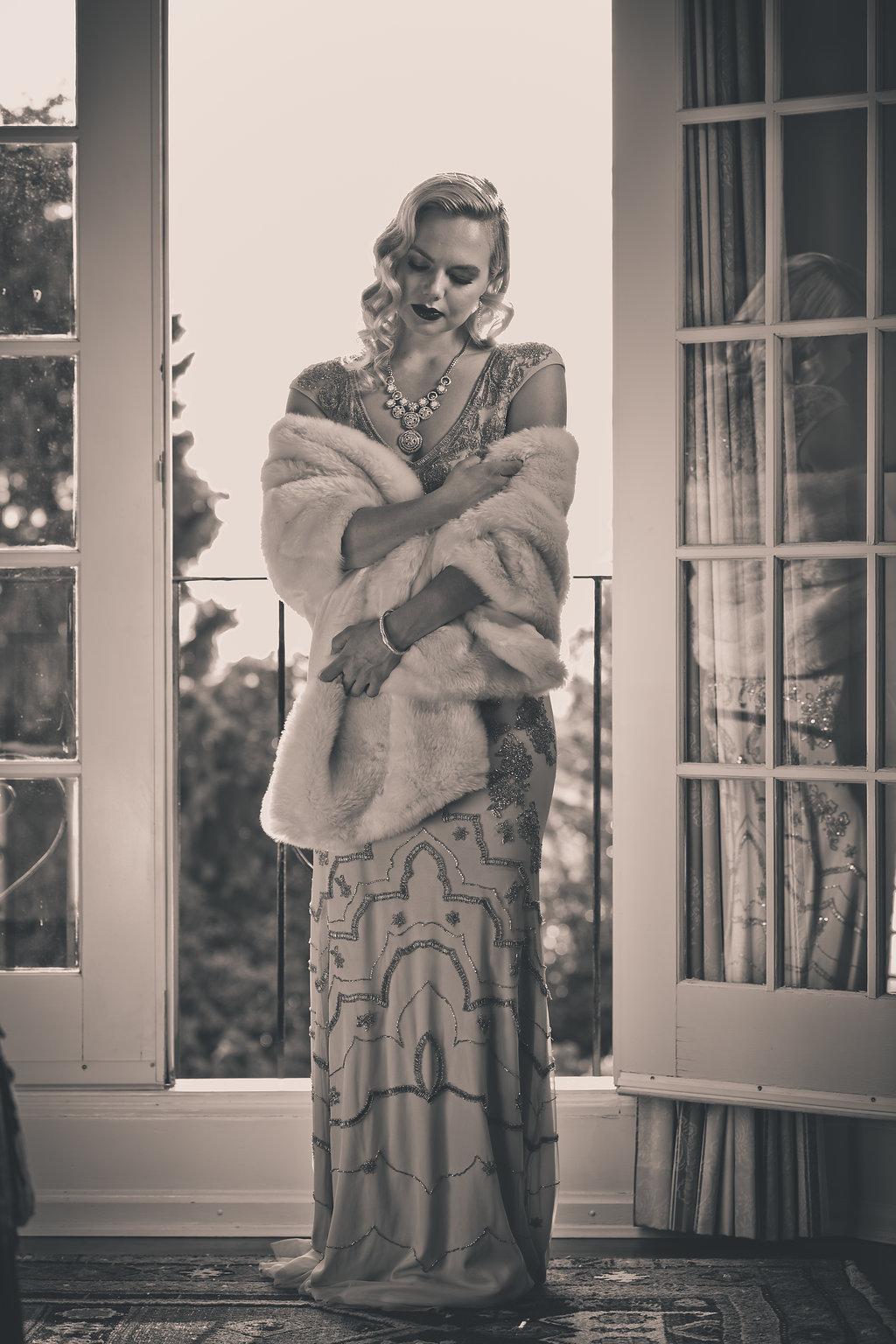 Beautiful bride in styled proposal at Villa Marco Polo Inn West Coast Weddings Magazine