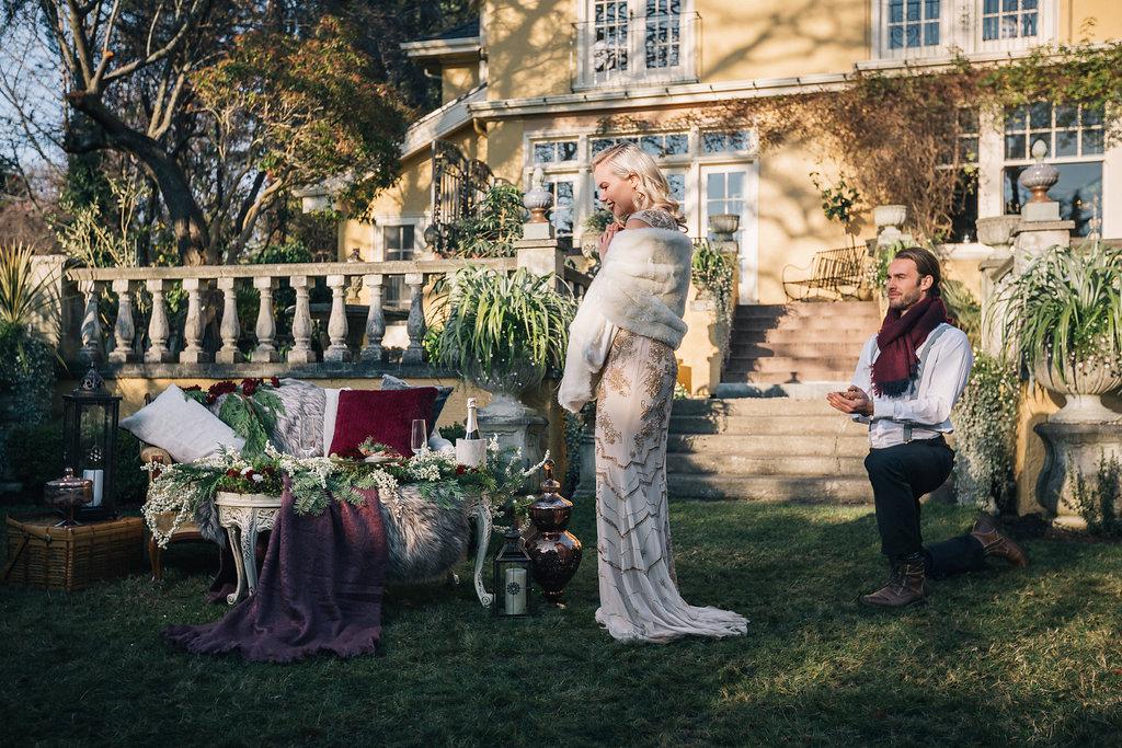 Styled Proposal Outdoor West Coast Weddings Magazine