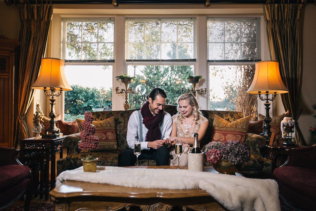 Newly Engaged Styled Proposal West Coast Weddings Magazine