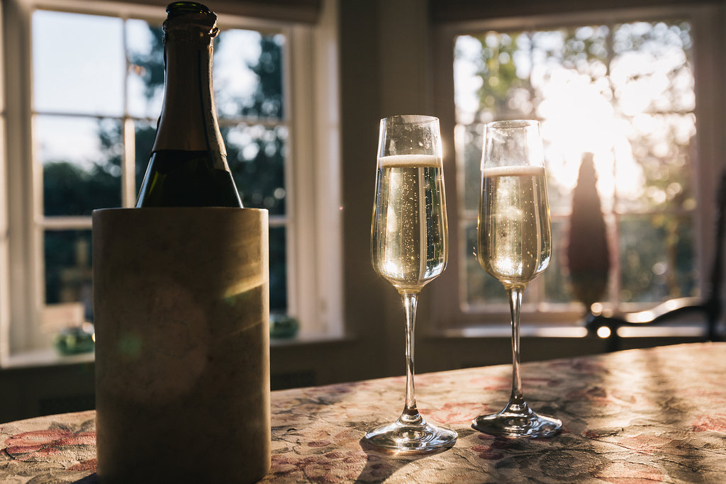 Champagne and Sunshine Styled Proposal Villa Marco Polo Inn Vancouver Island