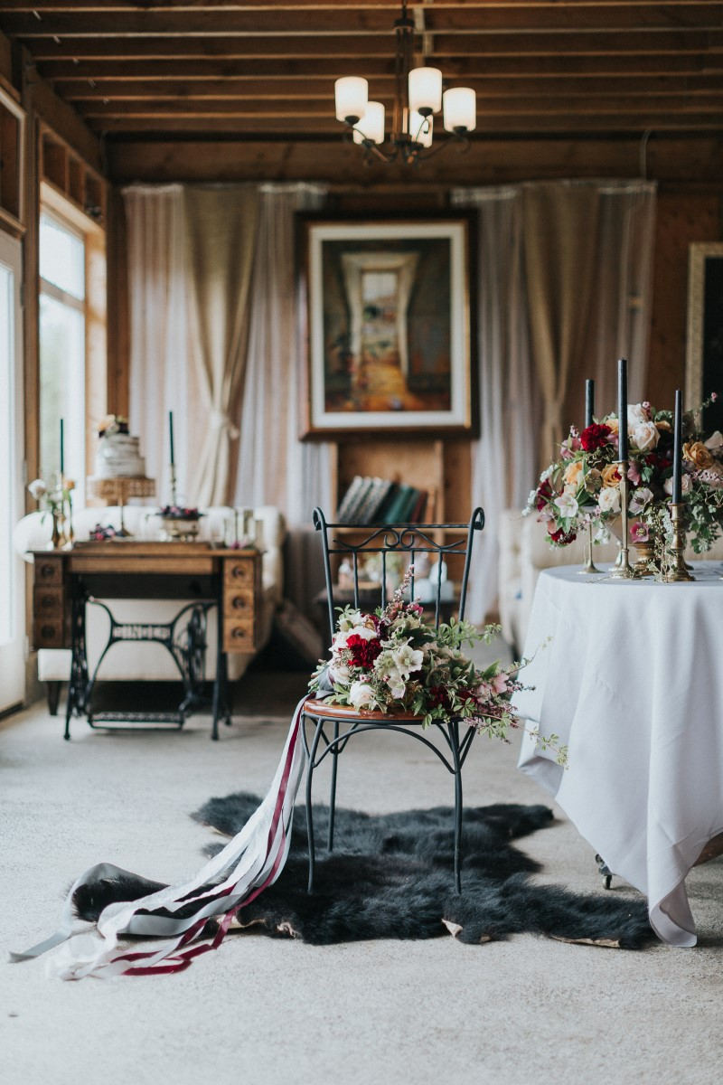 Vintage Head Table Moody Blue Romance Summer Rayne Photo West Coast Weddings Magazine