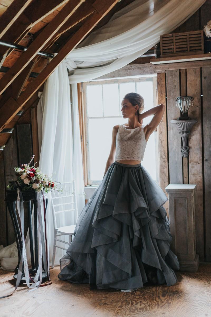 BMoody Blue Romance Summer Rayne Photo West Coast Weddings Magazineride in Window