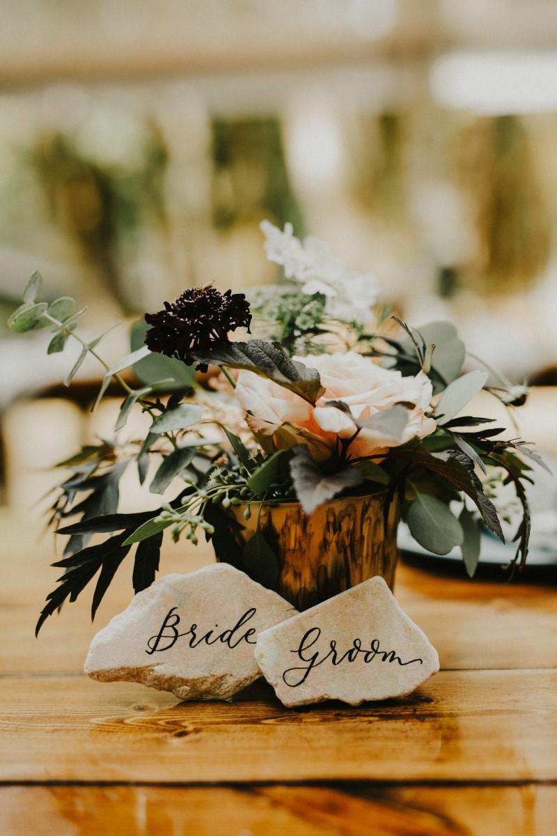Place Settings Name Cards Elegant Woodland West Coast Weddings Magazine Vancovuer