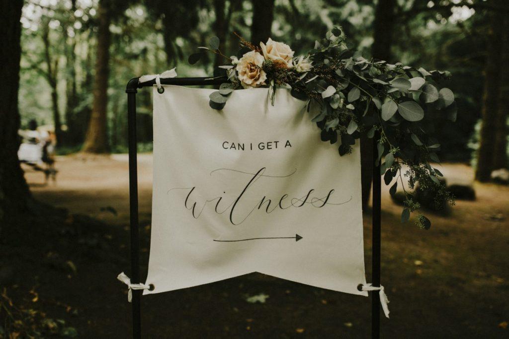 Enchanting Woodland Ceremony Sign West Coast Weddings Magazine The Apartment Photo