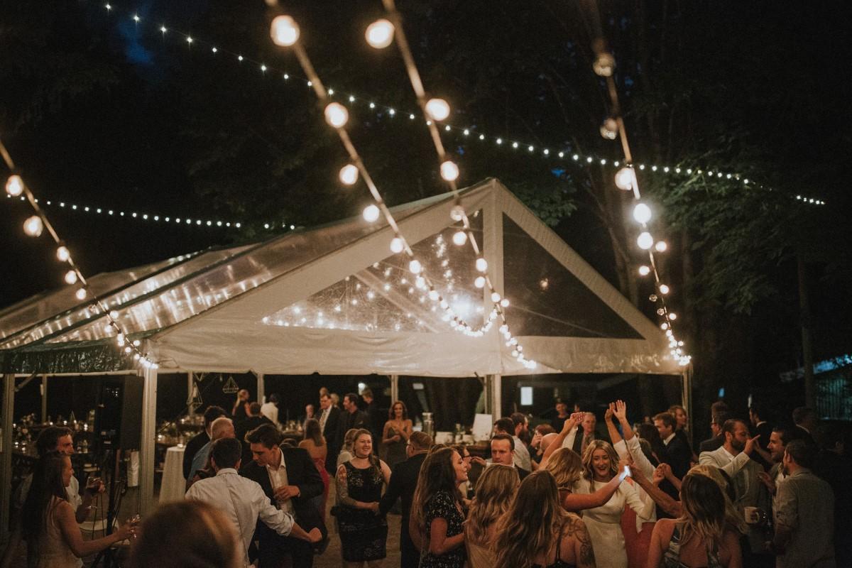 Outdoor Reception Dance Elegant Woodland West Coast Weddings Magazine Vancovuer