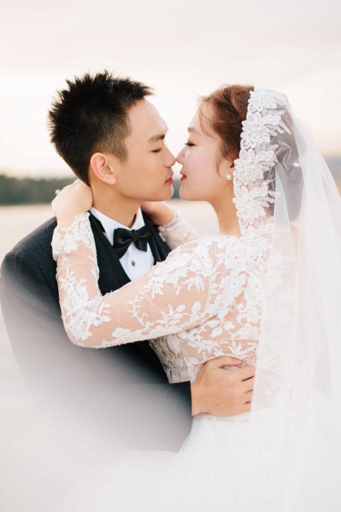 Asian Fusion Kiss Cherry Wang Events | Rosa Clara | Fairmont Pacific Rim | Angeline | Bobo Zhao | Beige Weddings | Laurence Zhang | Effie Design | West Coast Weddings Magazine | BC Wedding Magazine | Vancouver Wedding Magazine