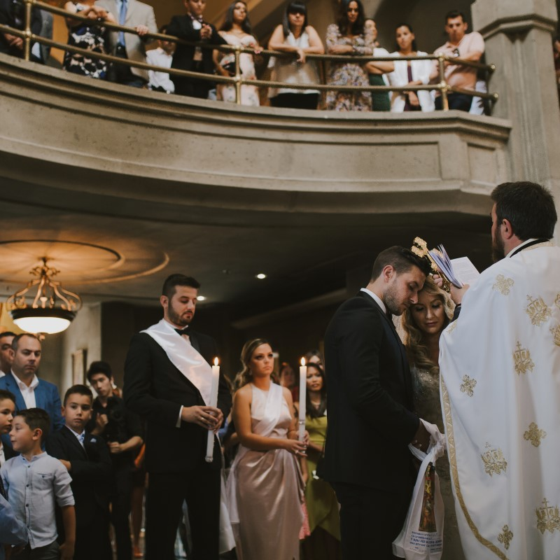 Greek Orthodox Church Ceremony Kayseeb abd Stevan Silk Sophistication Ophelia Photography Vancouver West Coast Weddings Magazine