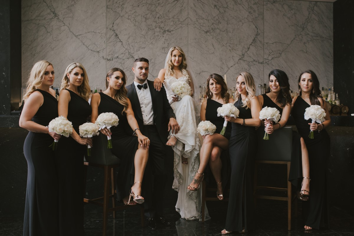 Bridal Party Formal Kayseeb abd Stevan Silk Sophistication Ophelia Photography Vancouver West Coast Weddings Magazine