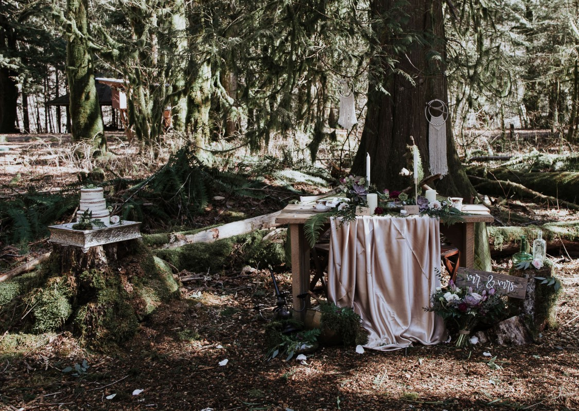 Sun Dappled at Cheakamus Centre Ecological Reserve West Coast Weddings Magazine