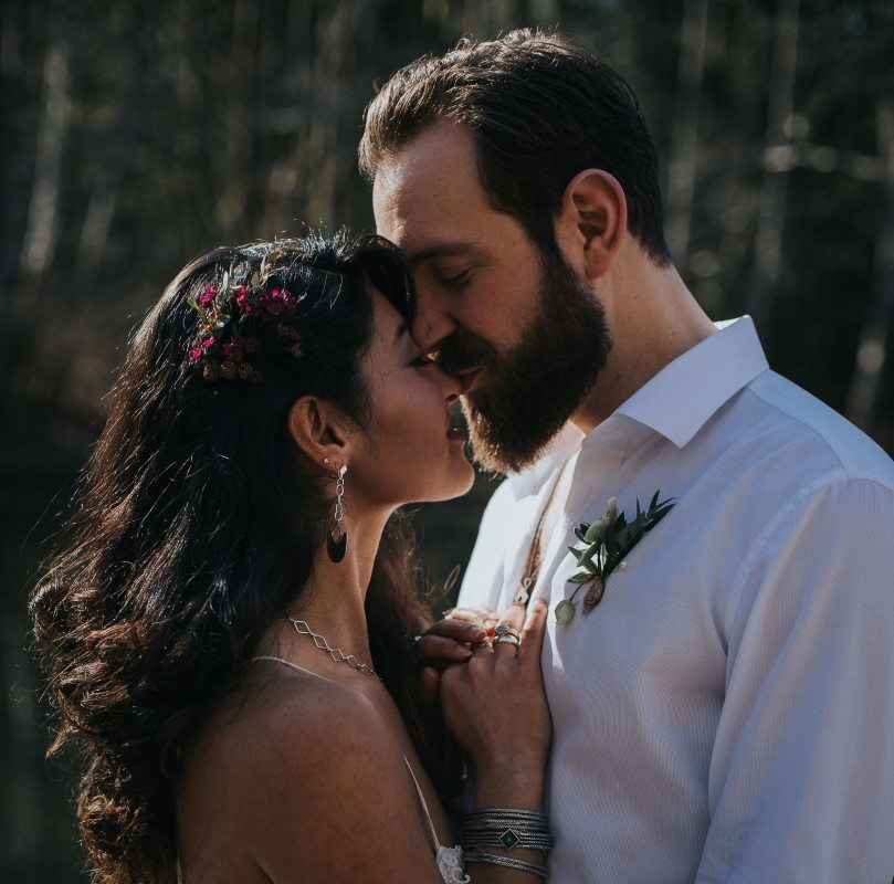 Sun Dappled Couple in Love Vancouver Wedding Magazine Elyse Anna Photography