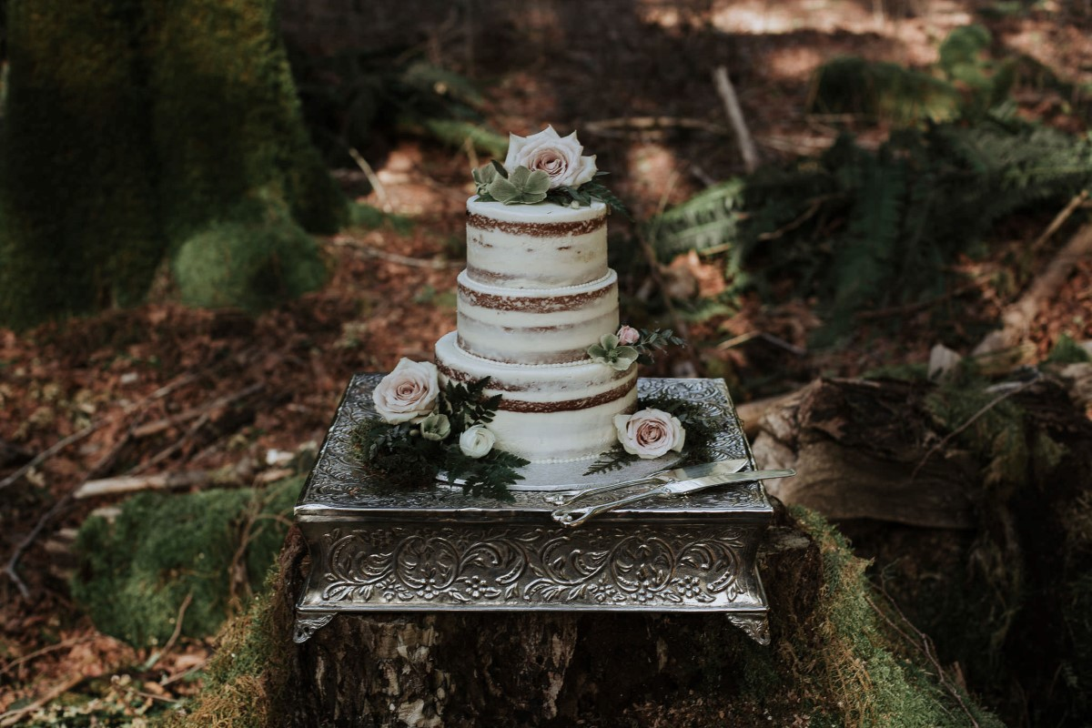 Sun Dappled Cake by Homemade by Harris Vancouver Wedding Magazine