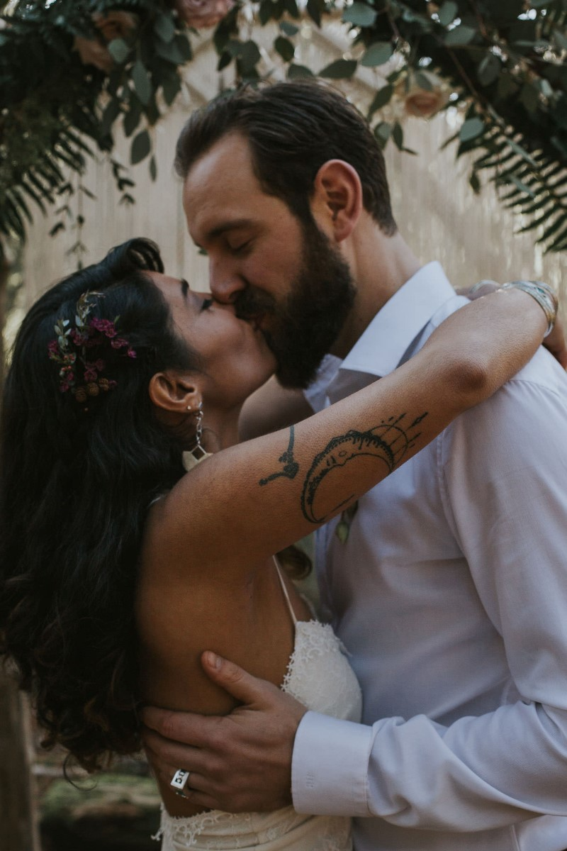 Sun Dappled Kiss by Coastal Fern Weddings in Vancouver