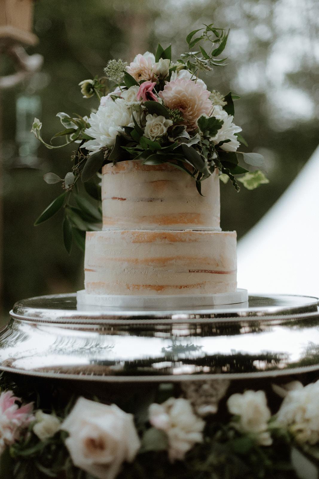 Cake at Rustic Anvil Island Wedding by Bon Vivant Group Vancouver BC Magazine