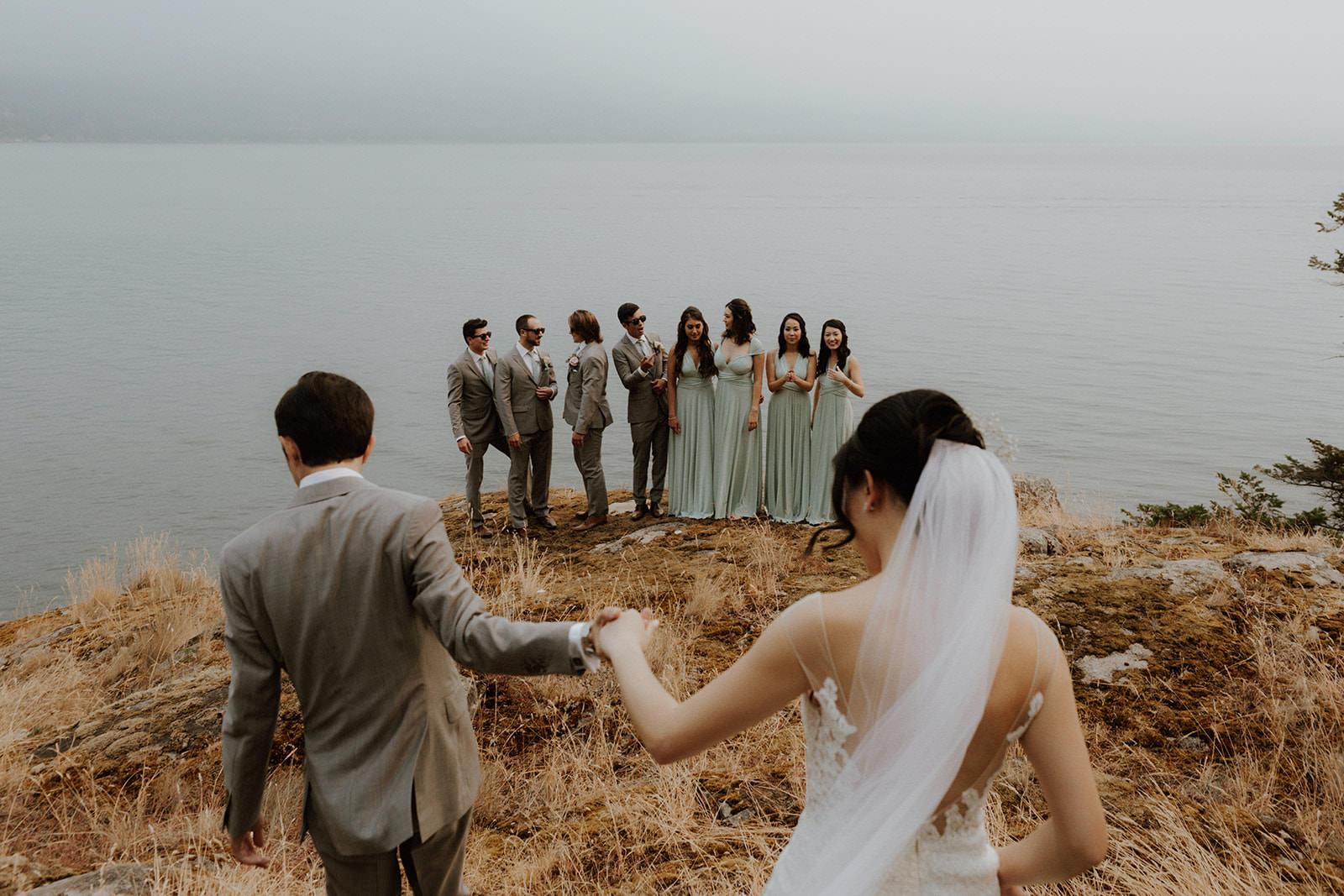 Wedding Party at Rustic Anvil Island Affair West Coast Weddings Magazine