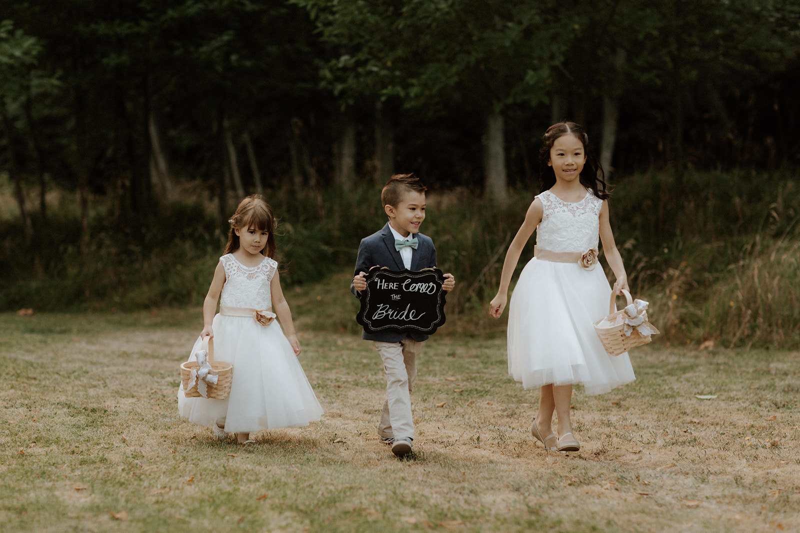 Rustic Wedding Tomasz Wagner Photography Ring bearer and flower girls