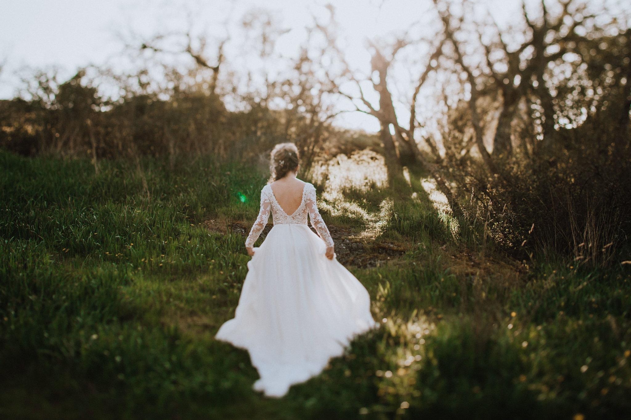 Beach Bridal Session Couple Sunset in the Trees West Coast Weddings Magazine